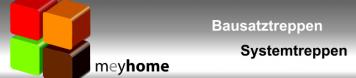 meyhome Treppen - Bausatztreppen - Aussentreppen - Innentreppen